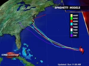 spaghetti model hurricane