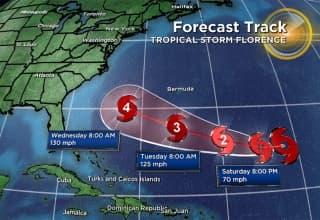 uragano florence florida