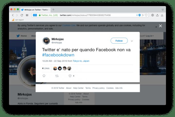 Leggere post di Facebook o Twitter cancellati?