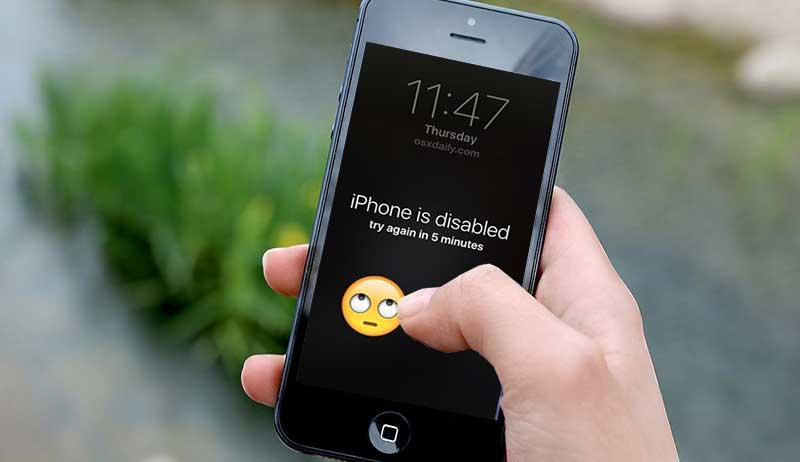sbloccare iphone disabilitato