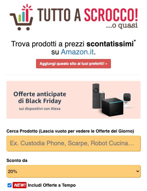 Cerca Sconti ed Offerte Amazon