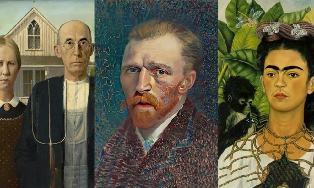 12 dipinti famosi animati